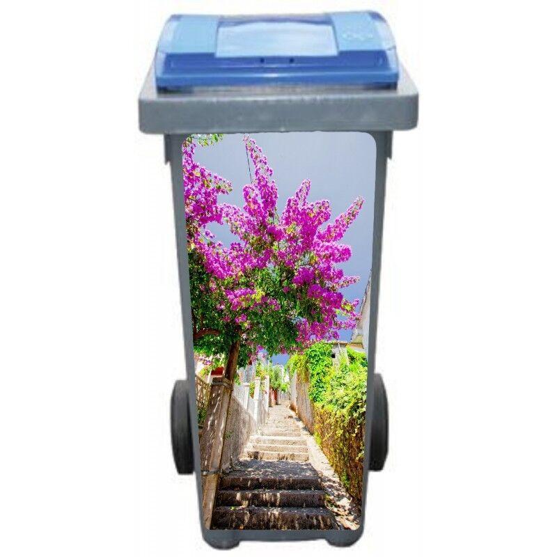 Adesivi cassonetto decocrazione Scala fiorito 3234 Art déco adesivi