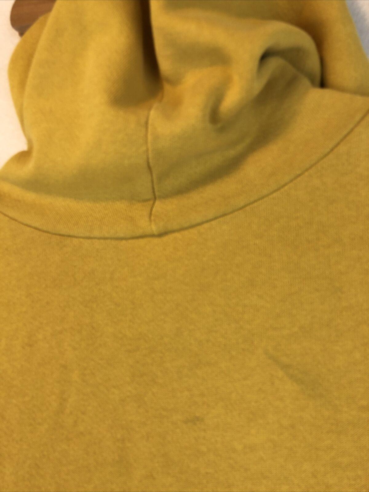 VTG Nike Rare Mustard Yellow Hoodie Sweatshirt Si… - image 10