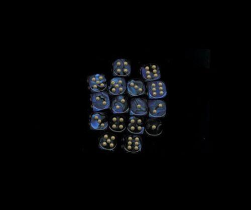 6  12MM BLACK BLUE W//GLD D6 DICE CHX26835 WARHAMMER 40K