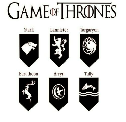 Game of Thrones Houses 20cm x 20cm Ikea Ribba Frame decal only no frame