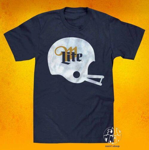 New Miller Lite Brewing Beer Football Helmet  Mens Vintage Classic T-Shirt