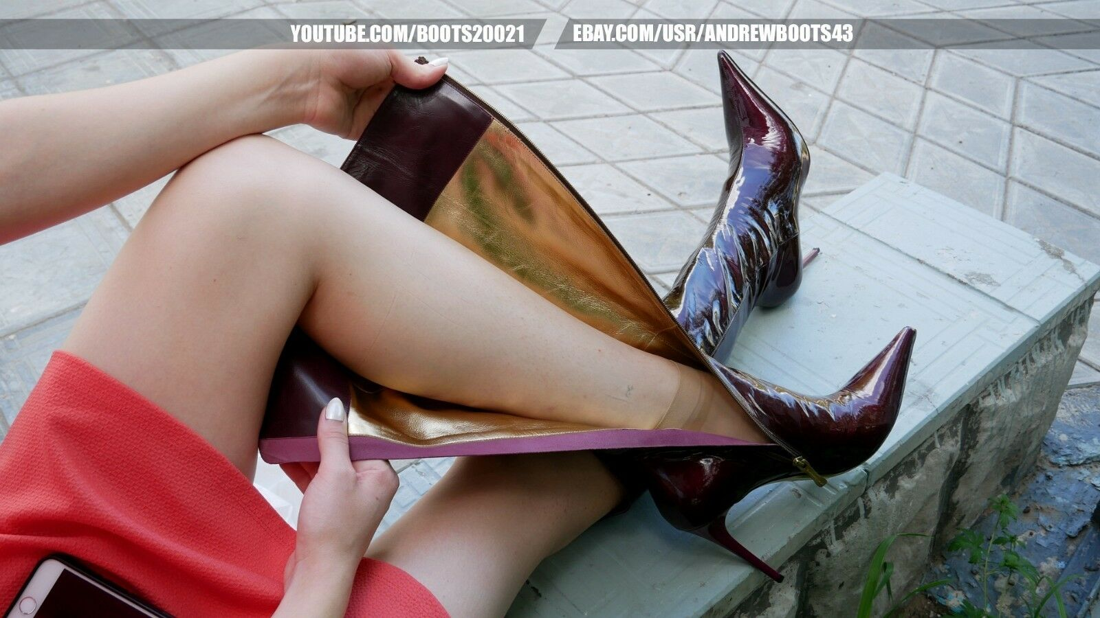 GIANMARCO LORENZI Size 39 (US 8,5) Pointy High Heels Boots Patent Leather Vine