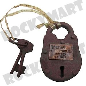 Replica-Antique-YUMA-Territorial-Arizona-Iron-Prison-Lock-RM3583