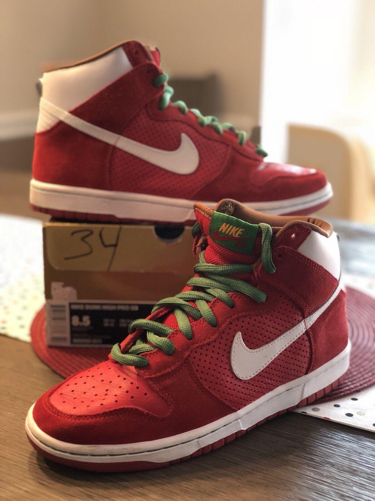 Nike Nike Nike Dunk High Pro SB Big Gulp Sport rosso bianca 305050-611 - Dimensione 8.5 3fa4f0