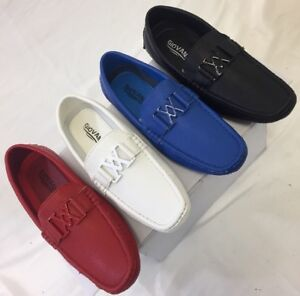 56206ad5e30 MEN GIOVANNI DRESS SHOE LOAFER CASUAL STYLE SLIP-ON WHITE BLUE RED ...