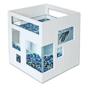 Image is loading Modern-Aquarium-Fish-Tank-Unique-Design-Novelty-Glass-
