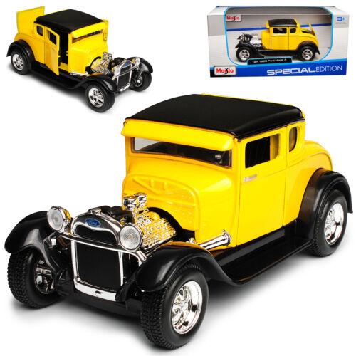 Ford Model A 1929 Gelb Hot Rod 1//24 Maisto Modell Auto mit oder ohne individiuel