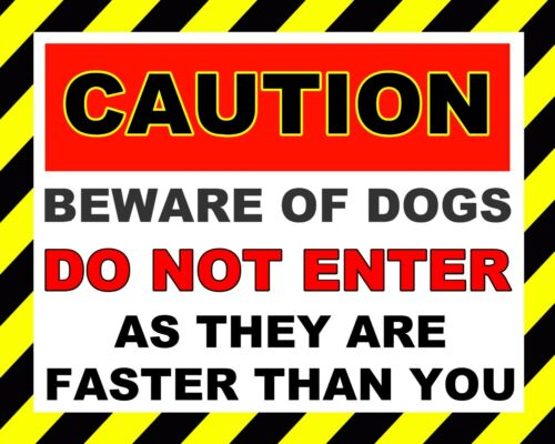 "10 x 8/"" CAUTION BEWARE OF DOG DO NOT ENTER TRESPASS NOTICE METAL PLAQUE SIGN 861"