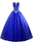 thumbnail 1 - Sweetheart Quinceanera Dresses Beads Long Prom Formal Strapless Ball Gown Custom