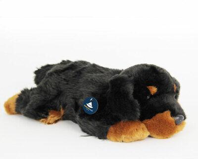 Länge ca Hund 30 cm Plüschtier Kuscheltier Stofftier liegender Rottweiler