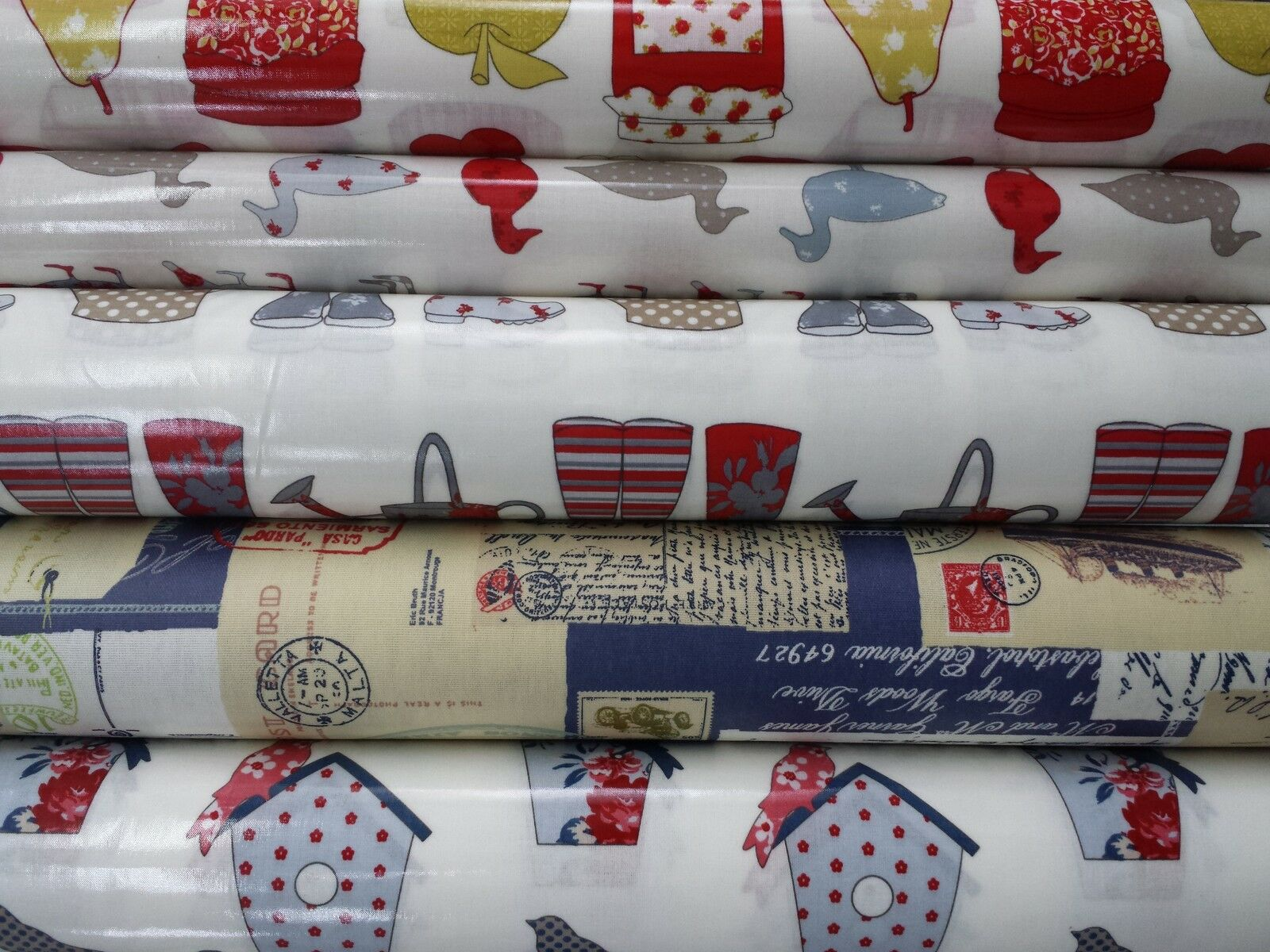 PVC Coated Ashley Wilde Wipeclean Tablecloth Table Covering Oil Cloth Vinyl
