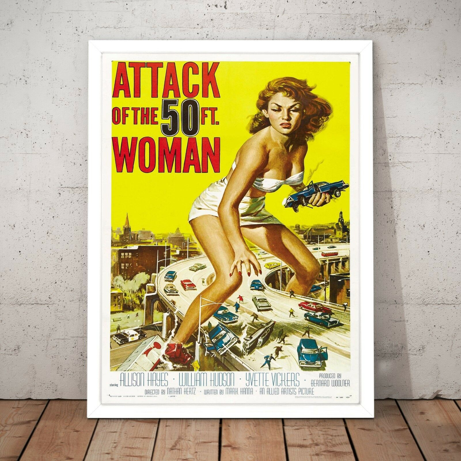 Attack of the 50ft Woman Vintage Movie Poster Art Print - A3 A2 A1 A0 Framed