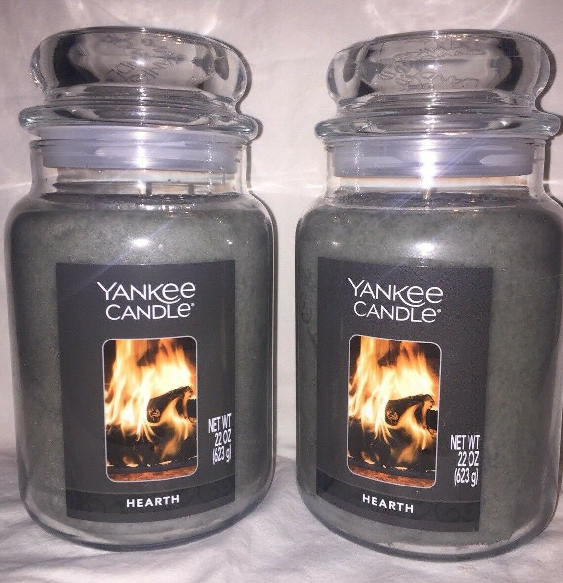 YANKEE CANDLE HEARTH 22 oz. New Label. Lot of Two, Hard to Find, Free Shipping