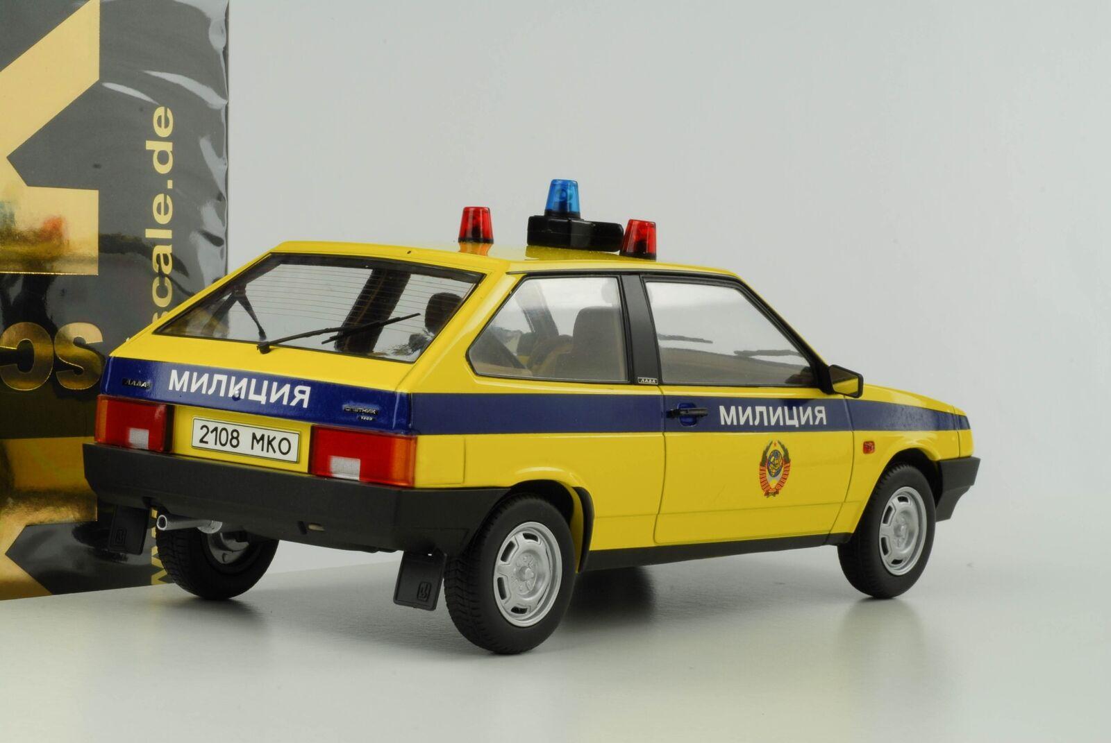 LADA SAMARA VAZ 1 Police Polizia su 1984 GIALLO 1 VAZ 18 KK Diecast NUOVO 180216 05a7cd
