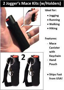 2pk Mace Pepper Spray Jogger Sport Model Runners Walkers Self Defense Ships Fast