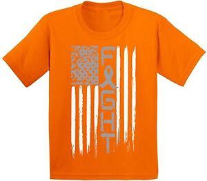 Kidney Disease Awareness T shirts Kids Tees Tops Youth Ribbon Awareness