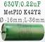 0.1uF 0.22uF 100nF 220nf Metal Paper Oil PIO K42Y-2 Capacitors VARIATIONS 630V