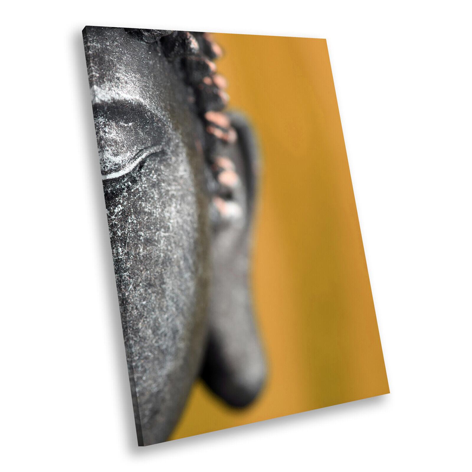 grau Gelb Buddha Retro Portrait Scenic Canvas Wall Art Large Picture Prints
