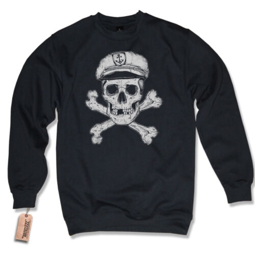 Pullover Captain Skull Sailor Captain Sailor Tattoo Old School Sweater S-3XL