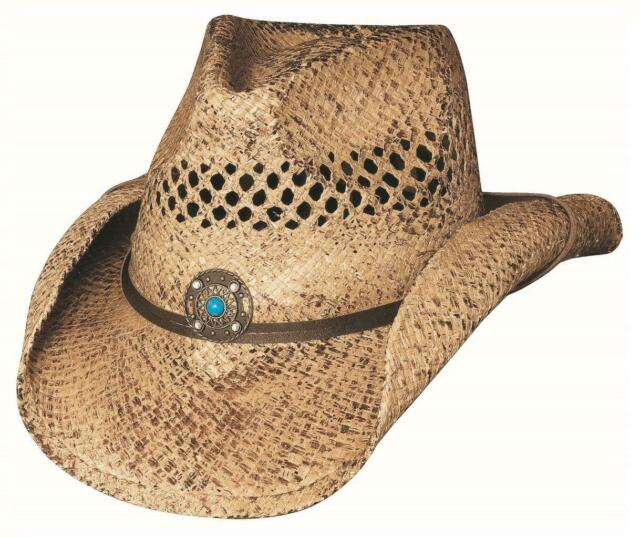 Jack Daniels Men/'s Soft Raffia Straw Cowboy Hat Natural Toast Color JD03-59
