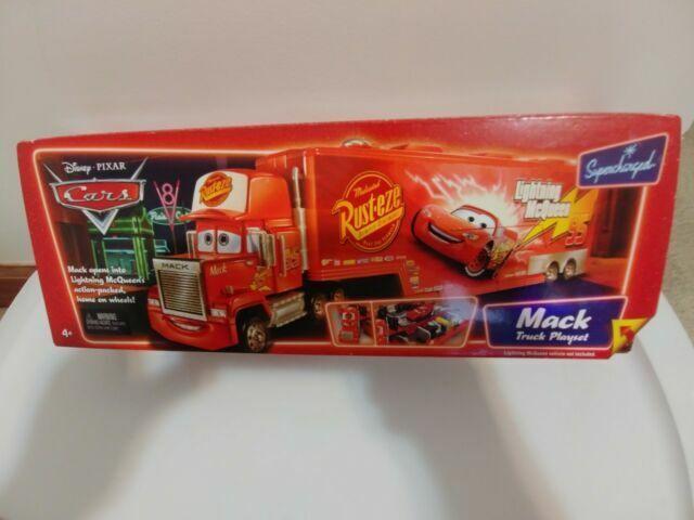 Disney Pixar Cars Mack Truck Playset Supercharged L4069 Mattel For