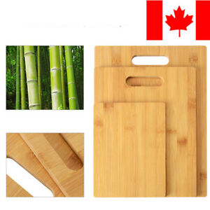 Sortwise® 3PK Bamboo Wooden Food Cutting Chopping Board Serving Platter Set