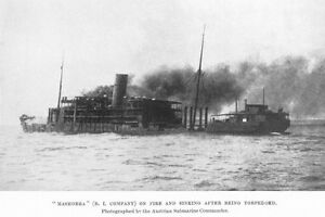 MASHOBRA-1-was-Troopship-HMAT-A47-seen-here-sunk-1917-modern-digital-Postcard