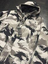 ADDICT Brand UK Half Tone Parka Jacket Grey Black Size Medium