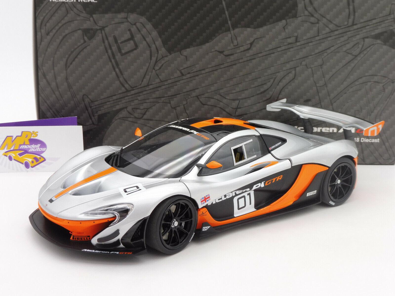 Almost Real 840101   McLaren p1 GTR no. 01 Pebble Beach 2014 argentoOarancia 1 18
