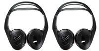 2) Audiovox Ir1cff Fold Flat Wireless Automotive Infrared Stereo Headphones