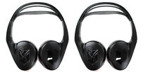 2) Audiovox Ir1cff Fold Flat Wireless Automotive Infrared Stereo Headphones