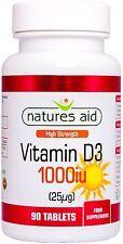 Vitamin D3 25µg (1000iu) 90 tabletten - Natures Aid