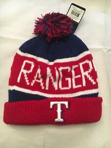 newest 79e3a f77d6 Image is loading Texas-Rangers-NEW-Calgary-Cuff-Knit-Winter-Hat-