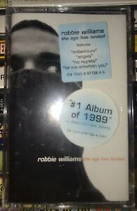 SEALED-NEW-Robbie-Williams-Ego-Has-Landed-Cassette-1999-BritPop-Rock-EMI-Records