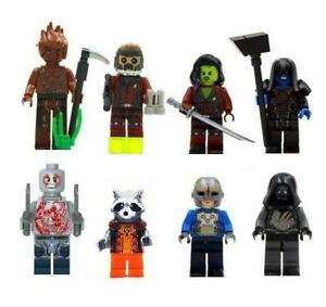 Guardians-of-the-Galaxy-Set-8-Minifigure-Marvel-Figure-For-Custom-Lego-Minifig