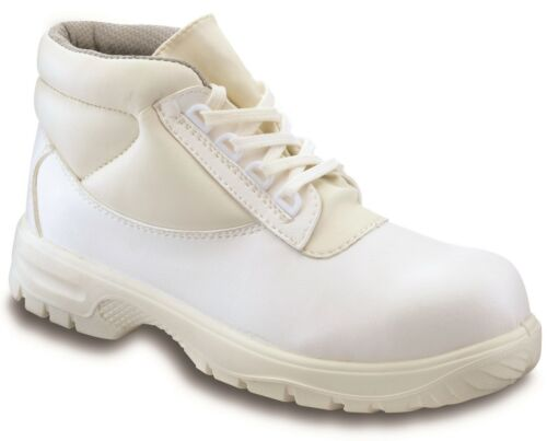 Mens ladies PSF Hygiene White S2 Safety Work Boots Steel Toe Cap Food Medical