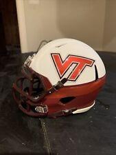 2008 Virginia Tech Hokies White Throwback Custom Riddell Mini Helmet