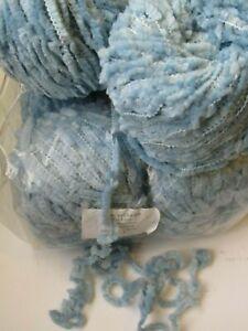 Lot-de-10-Pelotes-de-Laine-Gros-Velours-1-kilo-Bleu-Dragee