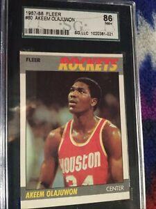 1-AKEEM OLAJUWON 1987-88 Fleer #80  86 NM+