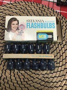 Vintage Sylvania Blue Dot Flashbulbs M3B
