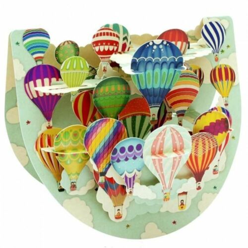 Santoro Popnrock 3D Greeting Card Hot Air Balloon