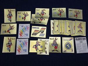 Panini-EM-EK-EC-1988-Euro-88-pick-1-badge-sticker-1-Wappen-auswahlen-very-good