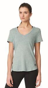 Adidas-Performance-Femmes-Fitness-Loisirs-T-Shirt-Logo-V-The-Vert