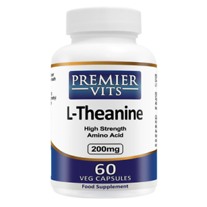 L-Theanine-200mg-x-60-Veg-Capsules-PremierVits-24Hr-Dispatch-UK-Manufactured