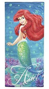 Disney-Little-Mermaid-Ariel-Splash-100-Cotton-28-034-X-58-034-Plush-Beach-Bath-Towel