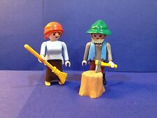 """PLAYMOBIL WOODCUTTER & WIFE from 4212 """"Magical Woods"""" Fairy Tale Hansel, Gretel"""