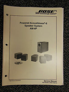 bose acoustimass 8 am 8p speaker system service manual oem exc rh ebay com