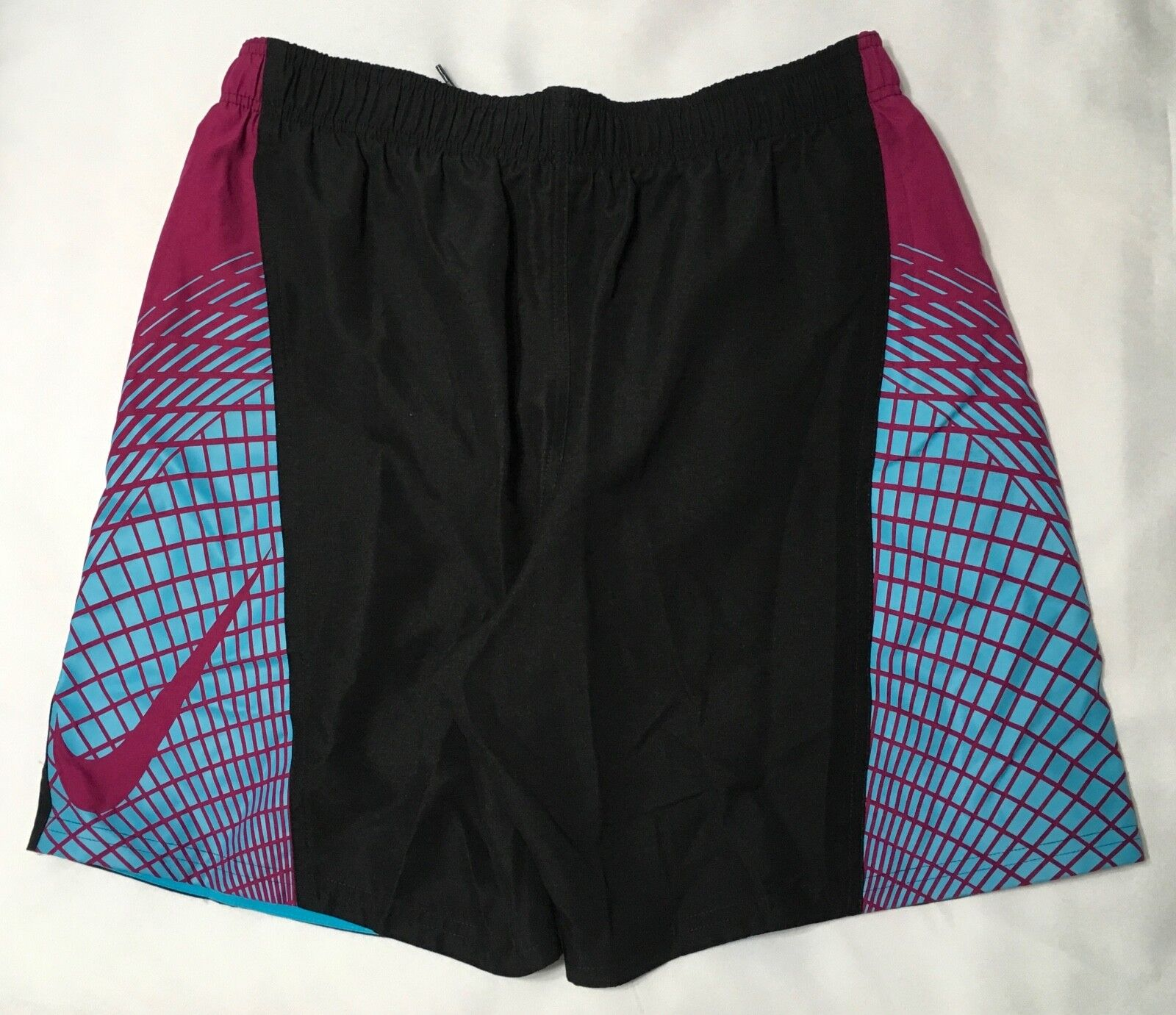 "Nike 7"" Volley Men's Swim Shorts NESS7430 Black//Plum Size  M L XL"