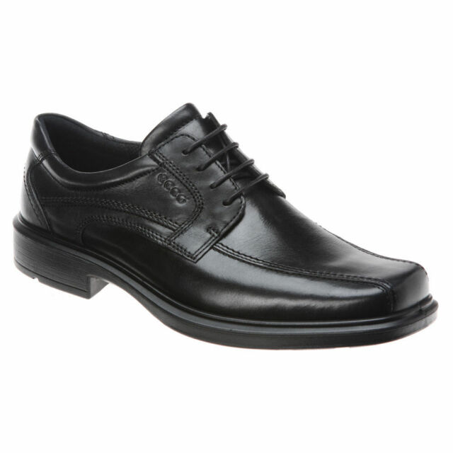 Ecco Mismatch 46 47 Mens Helsinki Black Leather Oxfords Shoes Fj