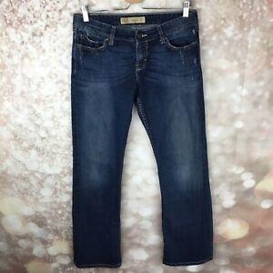 BKE-Women-039-s-Buckle-Denim-Jeans-Hannah-Boot-Medium-Wash-30-x-31-5-Distressed